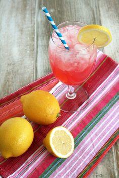Grown-Up Pink Lemonade ::  12 oz water,  8 oz lemon juice,  8 oz lime juice,  1 ½ cups sugar,  3 ½ oz Sour and Sour mix,  3 oz club soda,  2 oz vodka,  ½ oz grenadine