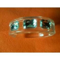 ICE - Clear Bangle Bracelet with Faceted Faux Stone Accents - AVON $9.99