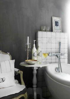 Wandfarben, Fliesen, Tapeten, Pflaumen Badezimmer, Badezimmerideen, Laute,  Erstaunliche Häuser, Ländliche Häuser, Wohnideen