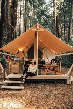 Glamping at Ventana in Big Sur Auto Camping, Camping Glamping, Camping Life, Outdoor Camping, Outdoor Gear, Luxury Glamping, Big Sur Glamping, Camping Outdoors, Outdoor Reisen