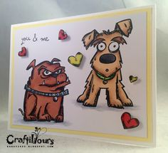 I super LoVe LoVe the Tim Holtz Crazy series - Crazy Cats, Crazy Birds, Crazy Talk, Crazy Things - and now Crazy Dogs. What?!?! What could...