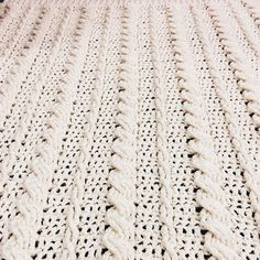 Cabled Wedding Blanket - Free Pattern