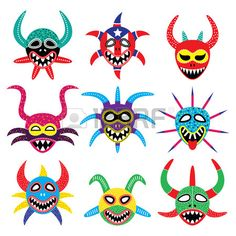 Vejigante mask for Ponce Carnival in Puerto Rico icons royalty-free vejigante mask for ponce carnival in puerto rico icons stock vector art & more images of anger Puerto Rico Tattoo, Taino Tattoos, Taino Symbols, Puerto Rico History, Puerto Rican Culture, Hispanic Heritage, Carnival Masks, Thinking Day, Free Vector Art