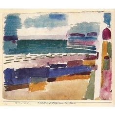Paul Klee - The Beach in St Germain, 1914 caves_collect