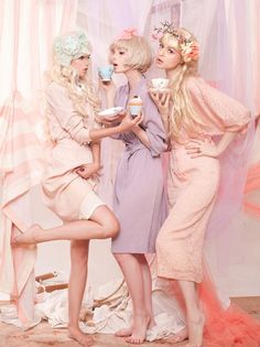 Hot Tea & Haute Couture! Editorial in Pastel Hues.