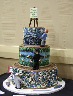 Art inspired cakes... I usually don't care about cakes like this, but this one.... LOVE