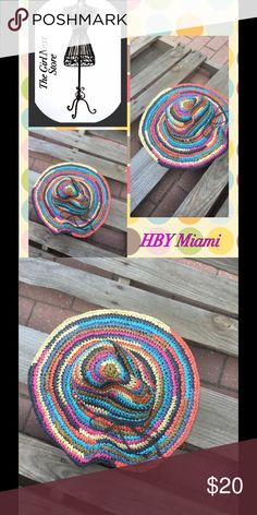 HBY Floppy Hat Bought this in Bahamas and never wore it. Beautiful Colors.... HBY Accessories Hats