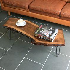 Solid Walnut Hairpin Leg Coffee Table