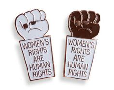 Women's Rights are Human Rights Enamel Pin Feminist by edgeofprint