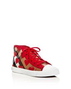 Burberry Girls' Warslow High Top Sneakers - Toddler, Little Kid, Big Kid