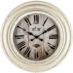 $50 - Distressed White Wall Clock | Hobby Lobby | 1150184. Every home needs a large clock.