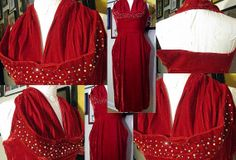 Vintage Ruby Red Velvet 50's Pinup Cocktail Party by LIFEofOLWEN, $139.99