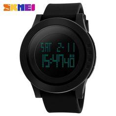 2016新しいブランドskmei時計男性ミリタリースポーツ腕時計ファッションシリコーン防水ledデジタル腕時計男性用クロックデジタル-時計