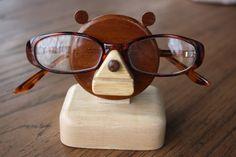 Teddy Bear eye glasses holder by gremlina on Etsy, $25.00