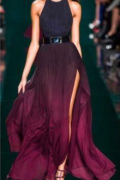 Purple Dye Effect Maxi Dress. Bridesmaids dress idea for my Nightmare Before Christmas Wedding at Disneyland.