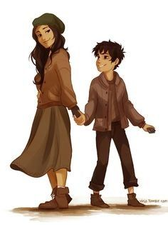 Bianca and Nico DiAngelo