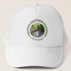 Porcupine Mountains Wilderness SP Trucker Hat   christmas gifts for hiking, hiking training, hiking boots #Birthday #wilderness #giftforher, 4th of july party Hiking Gifts, Men Hiking, Hiking Gear, Hiking Backpack, Camp Gifts, Kids Hiking, Hiking Training, Hiking Socks, Dog Training
