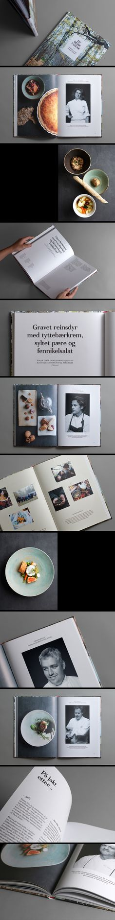 Thon Hotels Cookbook on Editorial Design Served. Nice images with non colors, simple and elegant