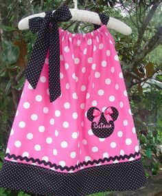 Pink Minnie Mouse Birthday Pillowcase Dress