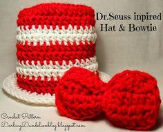 Dr.Seuss Cat in the Hat inspired Crochet Pattern!