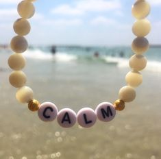 Feeling calm in our favourite spot with our spiritual healing gemstone bead bracelet 🌞🏝 Letter Bead Bracelets, Pony Bead Bracelets, Beaded Braclets, Friendship Bracelets With Beads, Letter Beads, Pony Beads, Gemstone Bracelets, Gemstone Beads, Beaded Jewelry