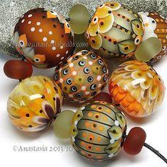 "Anastasia Lampwork Beads 7 ""Orange Fudge"" SRA | eBay http://www.ebay.com/itm/261307258796?ssPageName=STRK:MESELX:IT&_trksid=p3984.m1555.l2649"