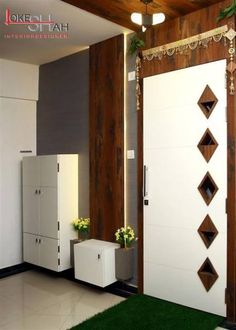 Ideas office entrance door design entryway for 2019 Main Entrance Door Design, Office Entrance, Entrance Foyer, Front Door Design, Entrance Ideas, Door Ideas, Brown Interior Doors, Door Design Interior, Modern Interior Design