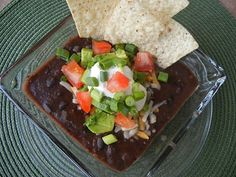Black Bean Soup (I'm sure you could sub canned beans instead of dried.)