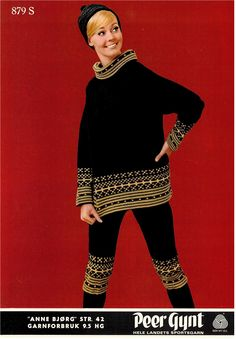 Anne Bjørg 879 S Knitting Charts, Knitting Patterns, Norwegian Knitting, Vintage Ski, Embroidery, Wool, Retro, Clothing, How To Wear