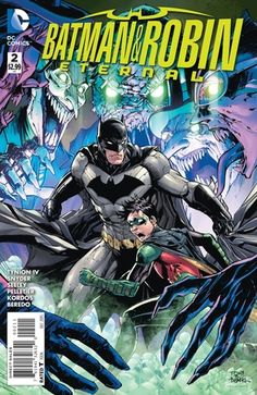 """Batman & Robin Eternal #2"" cover by Tony Daniel"