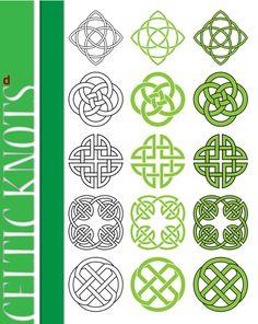 celtic knots. Norse block. Form drawing.