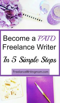 Simple first steps to take in becoming a freelance writer. I've put 12 years of freelance writing experience to work for you. http://freelancewritingmom.com/5-first-steps-getting-paid-freelance-writer/