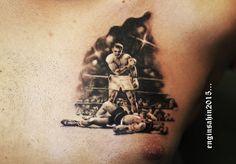 muhammed ali - tattoo - muhammed ali dövmesi - black and grey - engin şahin - realistic