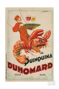 Quinquina Du Homard Aperitif Advertisement Giclee Print at Art.com