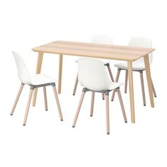 LISABO / LEIFARNE Table and 4 chairs IKEA Easy to assemble as each leg has only one fitting. Table legs of solid wood, a hardwearing natural material.