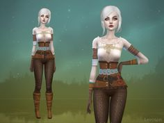 The Sims Resource: Ciri Outfit by Lavoieri • Sims 4 Downloads