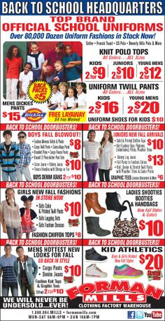 This is our weekly ad so you can see all of the deals we have at Forman Mills.