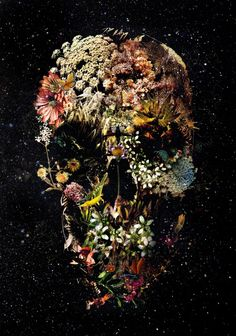 Smyrna Skull Art Print by Ali GULEC