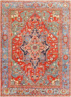 Antique Persian Heriz Rug 48005 Thumbnail - By Nazmiyal