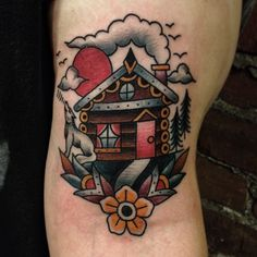 Cabin fever. #cabin #tattoo #traditional #gastowntattoo