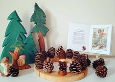 celebration ring w/ pine cones & conifers Pinecone, Celebration, Place Cards, Place Card Holders, Ring, Pineapple, Rings, Jewelry Rings, Pine Cone