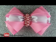 Flor de listón paso a paso / Ribbon flower step by step - YouTube