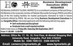 Harvest Global Markets Jobs 2017 In Sargodha For Business Development Executive http://www.jobsfanda.com/harvest-global-markets-jobs-2017-in-sargodha-for-business-development-executive/