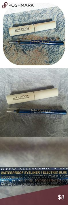 TWO Well People Mascara and Marcelle Eyeliner MAKE IT BETTER, MAKE IT A BUNDLE!  1-Well People Expressionist Mascara 2-Marcelle Electric Blue Waterproof Eyeliner  NEW! NEVER USED! Marcelle  Makeup Eyeliner