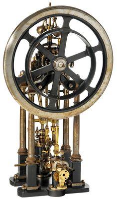 Model Four-Pillar Cylinder Steam Engine circa 1850's
