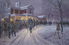 Merry Christmas General Lee Moss Neck, Fredericksburg, Va., December 25, 1862 by Mort Künstler