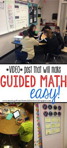 an Update Everything you wanted to know about implementing Guided Math in your classroom. all in one VIDEO!Everything you wanted to know about implementing Guided Math in your classroom. all in one VIDEO! Math Teacher, Math Classroom, Teaching Math, Flipped Classroom, Teaching Ideas, Classroom Ideas, Math Rotations, Math Centers, Numeracy