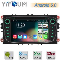 """2GB RAM 32GB ROM 7"""" Android 6.0 Octa Core DAB Car DVD Player Radio Stereo GPS For Ford Mondeo Focus S-Max C-Max Galaxy Kuga USB"""