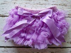Baby Girl TuTu Bloomers Chiffon Ruffle Diaper by LolaBeanClothing, $8.75