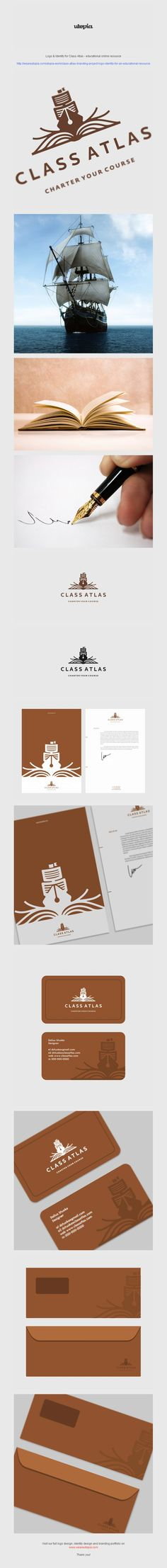 Class Atlas logo and corporate identity design by Utopia Branding Agency